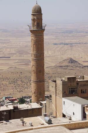 camii: Minaret of  the Ulu Cami mosque,  Mardin,  Turkey Stock Photo
