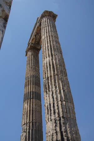 apollo: Massive Ionian stone columns of the Apollo temple  at Didyma,  Turkey