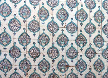 harem: ISTANBUL, TURKEY  - MAY 18, 2014 - Elaborate Iznik mosaic tile work of the Harem  in Topkapi Palace,  in Istanbul, Turkey Editorial