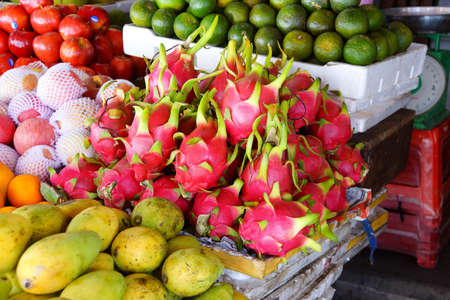central market: Dragon fruit for sale  at the Central Market of  Hoi An, Vietnam