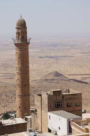 Minaret of  the Ulu Cami mosque,  Mardin,  Turkey Banco de Imagens