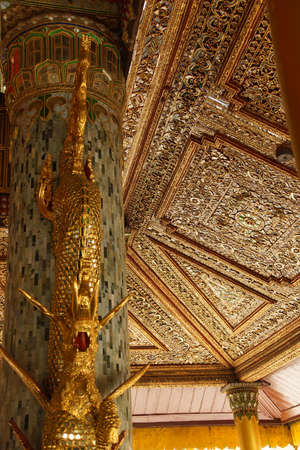inlaid: Beautiful gold and inlaid ceiling of the exterior porch of aShwedagon Pagoda Yangon (Rangoon),  Myanmar (Burma) Editorial
