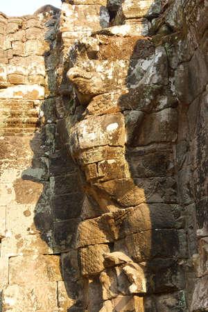 Garuda guardian statue at the Royal reservoir Sra Srang,  Cambodia