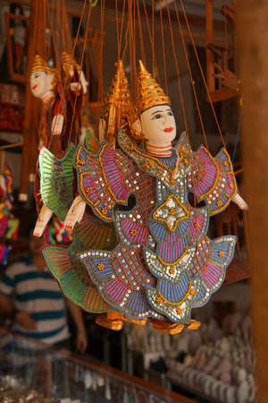 siem: Traditional  Cambodian puppet,  Old Market, Siem Reap,  Cambodia