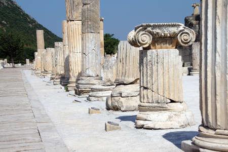 corinthian: Corinthian columns near the agora  Ephesus, Turkey Stock Photo
