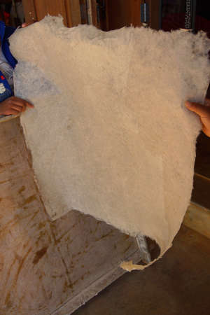 Making paper sheets from  mulberry pulp, near Inle Lake Myanmar (Burma)