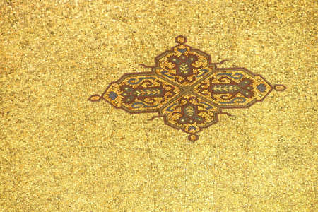 mausoleum: Detail, mosaic ceiling at the  Ataturk Mausoleum,  Ankara, Turkey