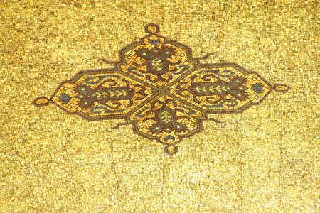 Detail, mosaic ceiling at the  Ataturk Mausoleum,  Ankara, Turkey