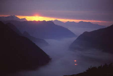 north cascade national park: Sunset, Middle Fork Cascade River, North Cascades National Park,Washington