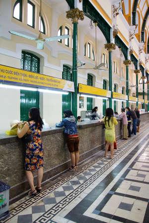 SAIGON - FEB 5, 2015 - French colonial Saigon Central Post Office is still in use by locals, Saigon (Ho Chi Minh City),  Vietnam Redakční