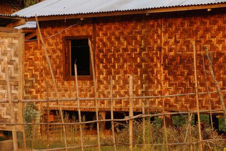 zancos: Traditional Shan house on stilts in rural village near  Hsipaw,  Myanmar (Burma) Editorial