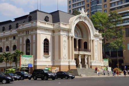 hosts: SAIGON - FEB 5, 2015 - French colonial Opera House still hosts concerts in Saigon (Ho Chi Minh City),  Vietnam Editorial