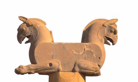 griffin: Griffin Column head  (capital city of Persian empire, Darius ) Persepolis, Iran, Middle East