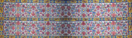 Floral mosaic detail, Madrese-e Khan (founded 1615) Shiraz, Iran, Middle East