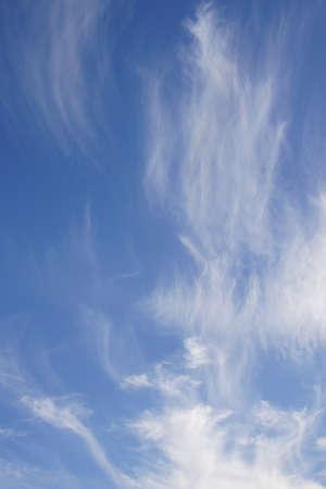 cirrus: High cirrus clouds and blue sky,  Seaside,  Oregon Coast