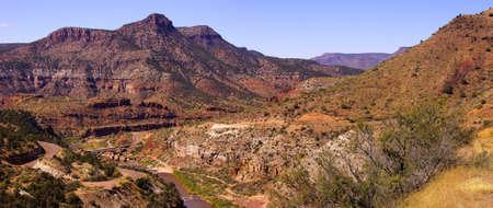 Steep valley of  Salt River Canyon, Arizona