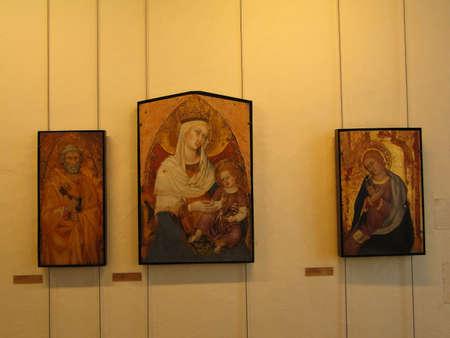 아비뇽, 프랑스 - 2011년 10월 1일 - 마돈나와 아이, 르네상스 회화, 페팃 팰리스, 아비뇽, 프랑스