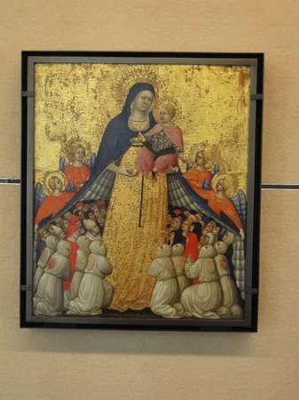 madonna: AVIGNON, FRANCE - OCT 1, 2011 - Madonna and child, Renaissance painting,  Petit Palace, Avignon, France
