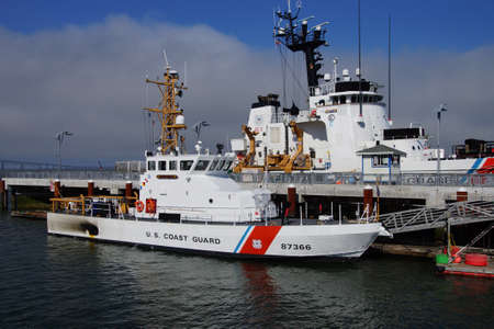 terrapin: ASTORIA, OREGON - OCT 1, 2015 - USCG cutter Steadfast 623 and patrol boat Terrapin, WPB 87366 Astoria, Oregon