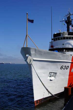 coast guard: ASTORIA, OREGON - OCT 1, 2015 - Coast Guard Cutter Alert, 630,  anchored in  Astoria, Oregon Editorial