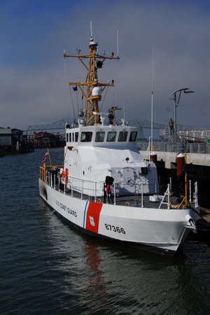 terrapin: ASTORIA, OREGON - OCT 1, 2015 - USCG patrol boat Terrapin, WPB 87366 Astoria, Oregon