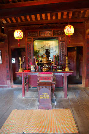 HOI AN, VIETNAM - FEB 3, 2015 - Chinese shrine with incense sticks,  Hoi An, Vietnam Editorial