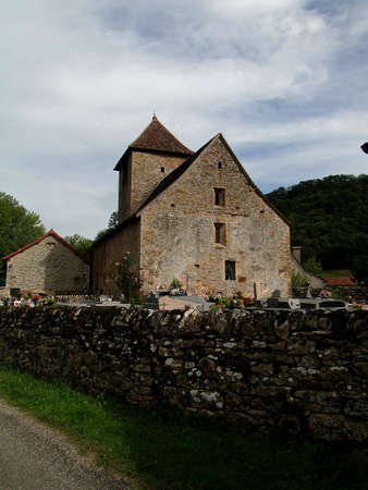 Medieval house still occupied in the small town of in the small town of Brentenoux, France