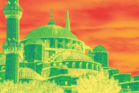 camii: Sultan Ahmet Camii ( Blue Mosque ) in the morning  Sultan Ahmet Camii ( Blue Mosque ) in Istanbul, Turkey