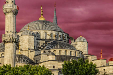 sultan: Sultan Ahmet Camii ( Blue Mosque ) in the morning  Sultan Ahmet Camii ( Blue Mosque ) in Istanbul, Turkey