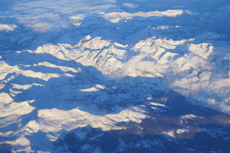 sierra snow: Sierra Nevada mountains with fresh snow,California