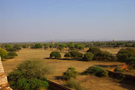 stupas: Ancient temples and stupas on the plainsBagan Myanmar (Burma)
