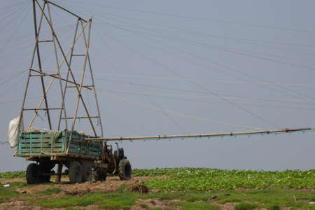 irrigation equipment: Irrigation equipment to pump water to fields from the river, Kompong Kleang floating fishing village,  Cambodia