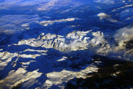 nevada: Sierra Nevada mountains with fresh snow,California