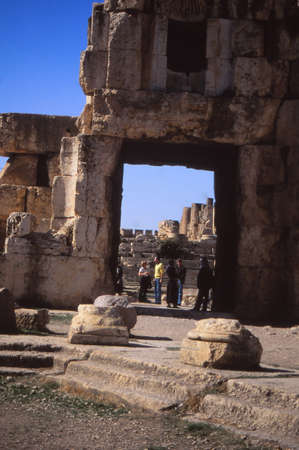 corinthian: Corinthian Columns, ruins of Temple of Jupiter at Baalbek,Lebanon