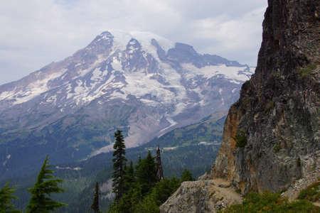 pinnacle: Steep trail near Pinnacle Pass, Mount Rainier National Park