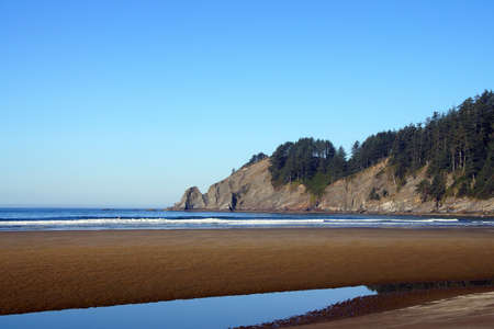 oswald: Short Sands beach at Oswald West State Park, Oregon Stock Photo