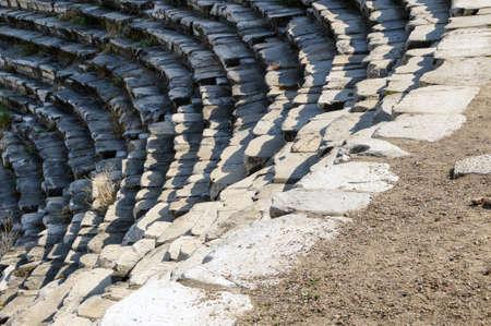 teatro antiguo: Teatro griego antiguo en Aphrodisias, Turqu�a Foto de archivo