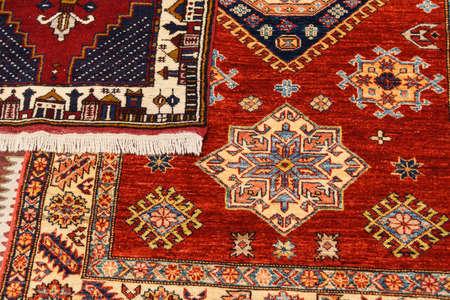 wool rugs: Sivas style rug in a carpet showroom in  Cappadocia, Turkey