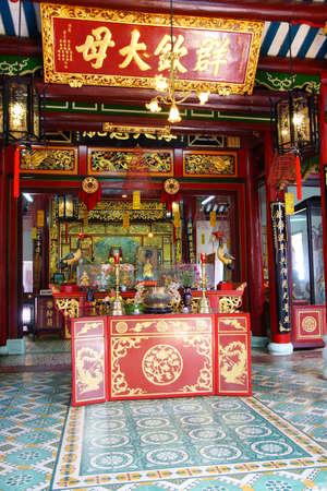 the  fertility: HOI AN, VIETNAM - FEB 3, 2015 - Altar of a fertility deity,  Fukian Assembly Hall, Hoi An, Vietnam