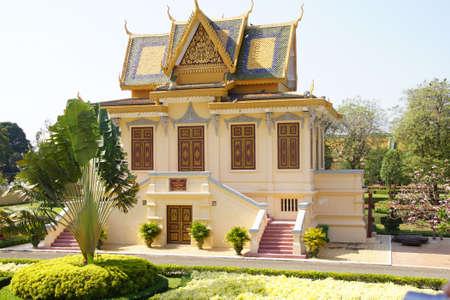 phnom penh: Buddhist temple  at the National Palace,  Phnom Penh,   Cambodia