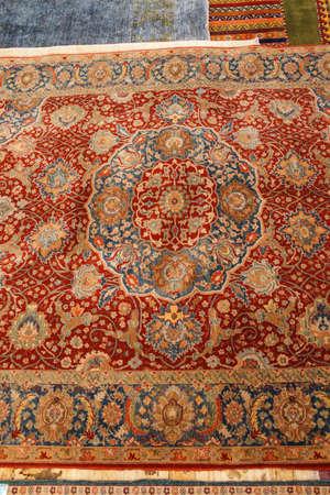 wool rugs: Kayseri Buyun rugs  in a carpet showroom in  Cappadocia, Turkey
