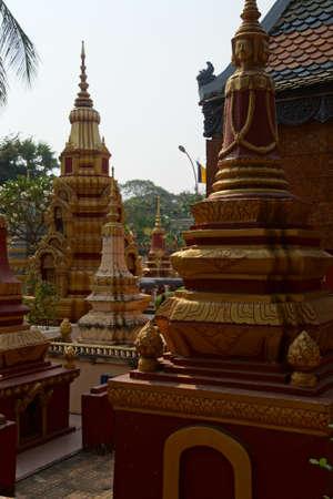 stupas: Chortens and stupas Wat Damnak monastery in Siem Reap,  Cambodia