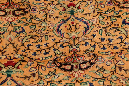 rugs: Kayseri Buyun rugs  in a carpet showroom in  Cappadocia, Turkey
