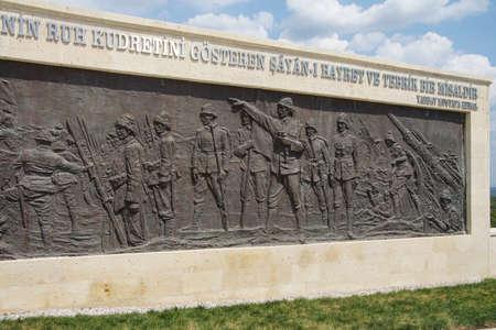 infantry: GALLIPOLI, TURKEY - MAY 23, 2014 - 57th Infantry memorial from Gallipoli battle in World War I  Turkey