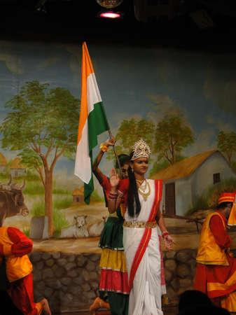 indian classical dance: KHAJURAHO, INDIA - NOV 4, 2009 - Indian dancer performs classical dance in Khajuraho, India. Editorial