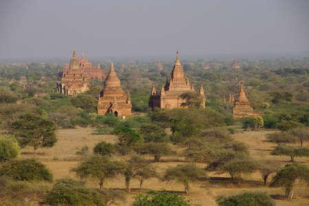 stupas: Ancient temples and stupas on the plains Bagan Myanmar (Burma)