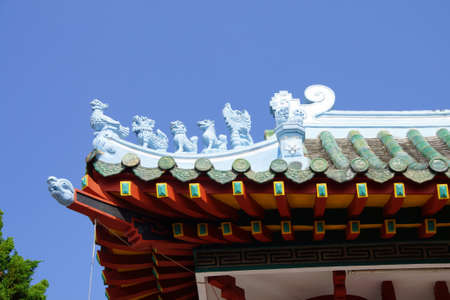 hoi an: Detail of  Fukian Assembly Hall, Hoi An, Vietnam Stock Photo