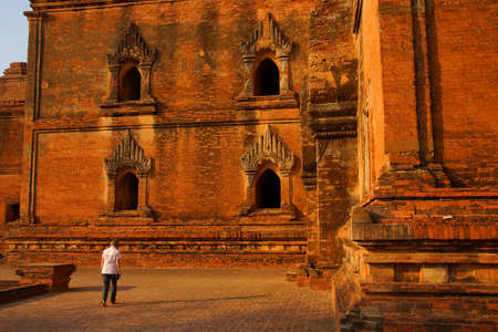 elaborate: Elaborate sandstone carvings outside the Dhammayangyi Temple, Bagan Myanmar (Burma)
