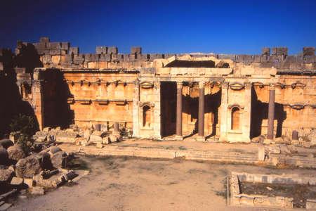 roman pillar: Columns, ruins of Temple of Jupiter, Baalbek,Lebanon