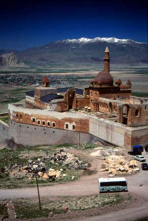 Ishak 파샤 궁전, 실크로드, 배경 아라 라트, Dogubayezit, 터키의이란 국경 근처